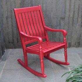 Solid Wood Porch Rocker (Assorted Colors)