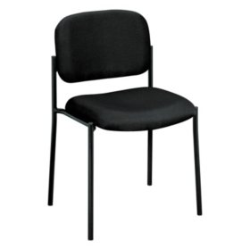 basyx by HON VL606 Stacking Armless Guest Chair, Black