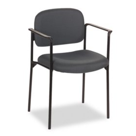 basyx VL616 Series Stacking Guest Chair with Arms, Select Color