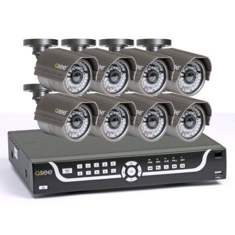 Q-See 16 Channel Surveillance System with 8 Premium High-Resolution 600TVL Cameras & 1TB HDD and Remote Monitoring