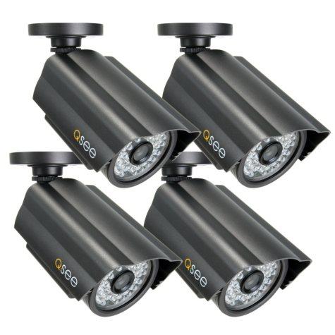 Q-See 4 Pack Premium High-Resolution CCD Cameras