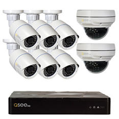 Q-See 8 Channel 3MP HD IP NVR Security System with 2TB Hard Drive, 6 3MP Bullet Cameras, 2 3MP Dome Cameras and 100' Night Vision