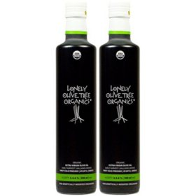 Lonely Olive Tree Organics Extra Virgin Olive Oil (16.91 oz., 2 ct.)