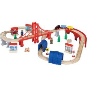60 Piece Wooden Train Set