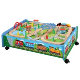 Train Set with Table and Play Board (62 pc.)