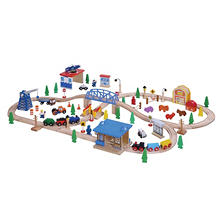 100 Piece Wooden Train Set