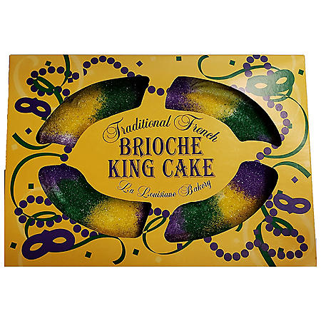 Traditional French Brioche King Cake, Cream Cheese (32 oz.)