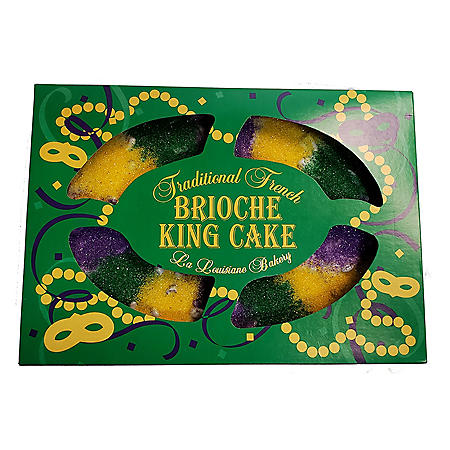 Traditional French Brioche King Cake, Pecan Praline (32 oz.)