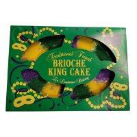 Traditional French Brioche King Cake, Pecan Praline (32 oz.)