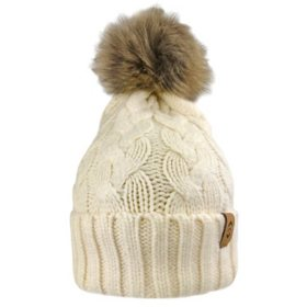 Free Country Women's Cable Knit Cuffed Beanie