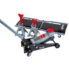 Pro Lift 3-Ton Garage Jack, Jack Stand & Creeper Combo