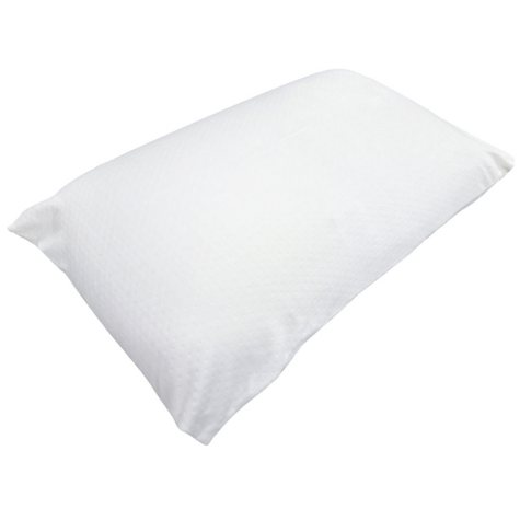 Queen Size Ventilated Memory Foam Pillow with Zippered Bamboo Fabric Cover