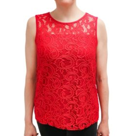 Adrianna Papell Stretch Lace Tank
