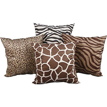 Animal Printed Faux Suede Decorative Pillows - 2pk