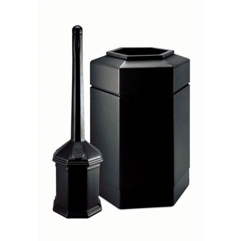 Site Saver Cigarette and Trash Can Combo, 30 gal. (Choose Your Color)