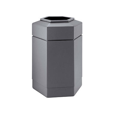 Commercial Zone Hex Trash Can - Gray - 30 gal.