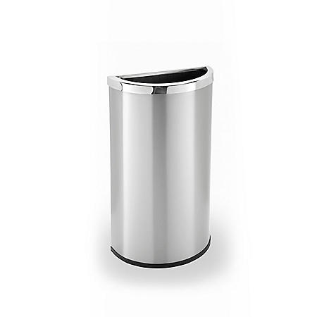 Precision Series Half Moon Trash Can - Stainless Steel - 8 gal.