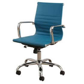 Abbyson Living Cosmo Silver Frame, Leather Office Chair (Choose a Color)