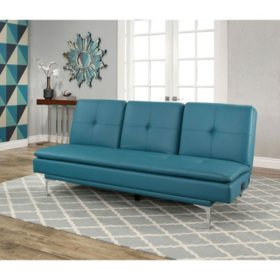 Prime Havana Bonded Leather Sofa Bed With Console Turquoise Spiritservingveterans Wood Chair Design Ideas Spiritservingveteransorg