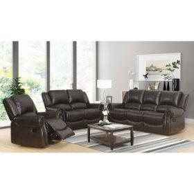Matthew 3-Piece Reclining Sofa, Loveseat, and Chair