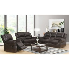 Matthew 3-Piece Reclining Sofa, Loveseat, and Chair