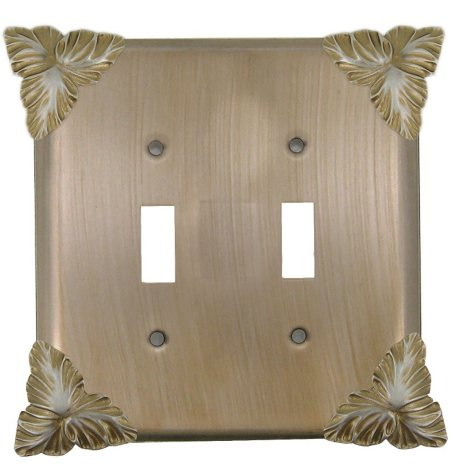 Rivendell Double Toggle Switch in Champagne Pewter