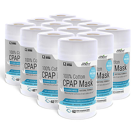 CPAP Mask Cleaning Wipes, Unscented (12 pk ) - Sam's Club