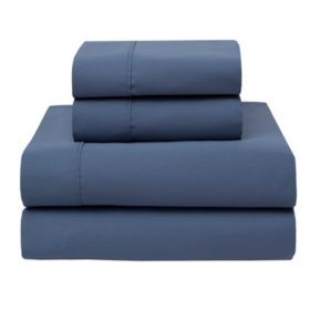 100% Cotton 420-Thread-Count Wrinkle-Free Sheet Set (Assorted Sizes and Colors)