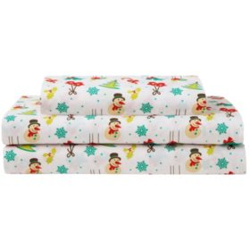 Elite Home Products Microfiber Holiday Print Sheet Sets (Various Sizes and Colors)