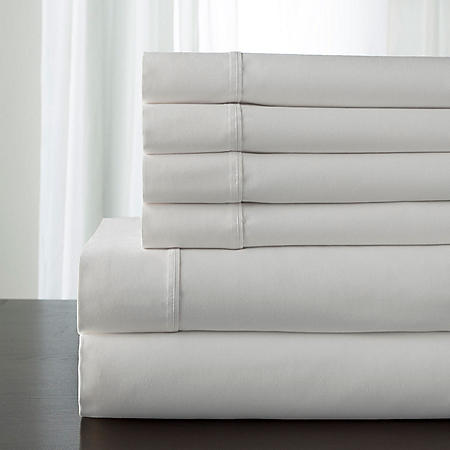 100% Cotton 350 Thread Count Camden Solid Sheet Set (Assorted Sizes and Colors)
