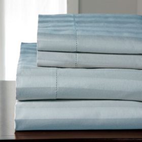 100% Cotton 500-Thread Count Andiamo Stripe Sheet Set (Assorted Sizes and Colors)
