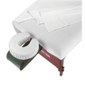 SpaMaster Essentials Massage Table Flannel Sheet Set