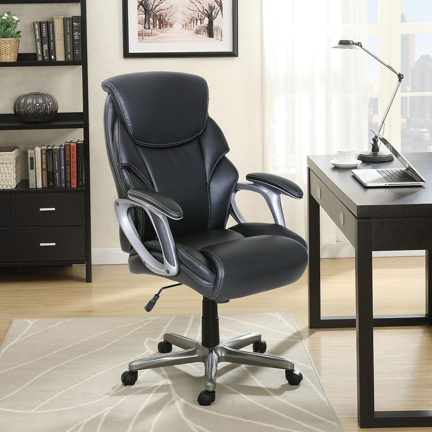 Serta Manager's Office Chair Supports up to 250 Lbs (Black)