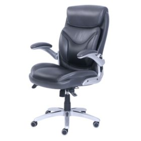 Wellness By Design Bonded Leather 3d Chair Black Sams Club