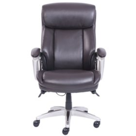 La-Z-Boy Manager's Chair with ComfortCore, Big & Tall, Brown (Supports up to 350 lbs.)