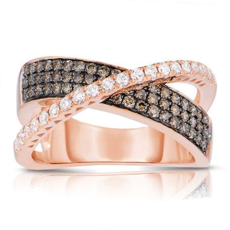 .75 CT. T.W. Round Cut Diamond Ring in 14K Rose Gold