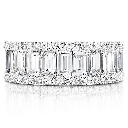 3 CT. T.W. Diamond Ring in 18K White Gold