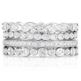 0.90 CT. T.W. Diamond Stackable Ring in 14K Gold