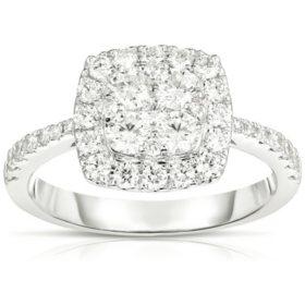 1.00 CT. T.W. Diamond Ring in 18K White Gold (GH, VS)