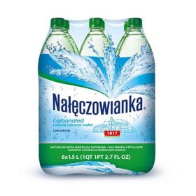 Naleczowianka Carbonated Mineral Water (1.25 L bottle, 6 pk.)