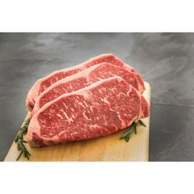 USDA Prime NY Strip Steak (10oz, 6 count or 12 count) delivered to your doorsteps