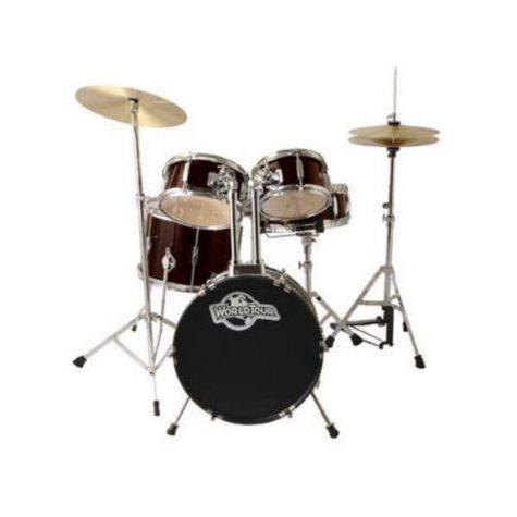 World Tour Junior Complete 5 Piece Drum Set - Red