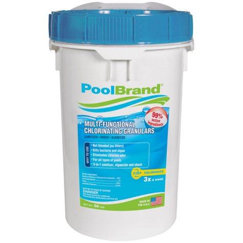 PoolBrand Multi-Functional Chlorinating Granulars - 50 lbs.