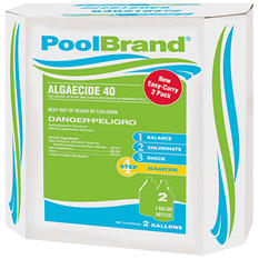 PoolBrand Algaecide 40% - 1 gal. - 2 ct.