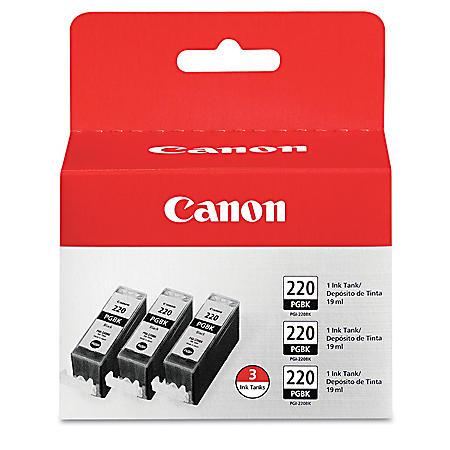 Canon PGI-220BK Ink Tank Cartridge, Black (3 pk.)