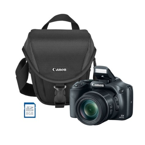 Canon PowerShot SX530 HS 16MP CMOS Sensor Camera Bundle with 50x Zoom, Camera Bag and 8 GB SDHC Card