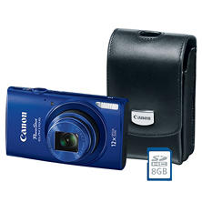 Canon PowerShot Elph 170 IS Bundle with 20MP, 12x Optical Zoom, Camera Case and 8GB SDHC Card