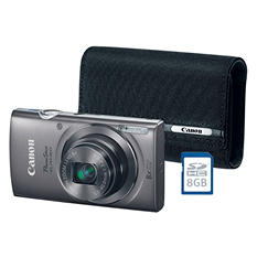Canon PowerShot Elph160 Bundle with 20MP, 8x Optical Zoom, Camera Case and 8GB SDHC Card