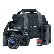 Canon EOS 80D DSLR Camera 2 Lens Bundle