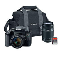 Canon EOS Rebel T7i 24.2MP Digital SLR Camera Bundle with EF-S 18-55mm STM Lens, 55-250mm Lens, 32GB SD Card, and Camera